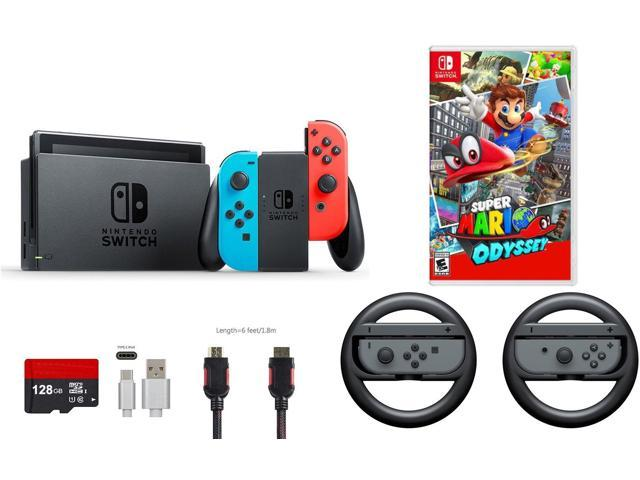 Nintendo Switch 7 Items Bundle Nintendo Switch 32gb Console Neon