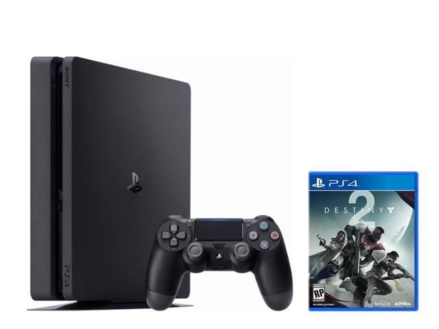 PS4 Slim Bundle: PlayStation 4 Slim 1TB Jet Black and Destiny 2 Game Disc