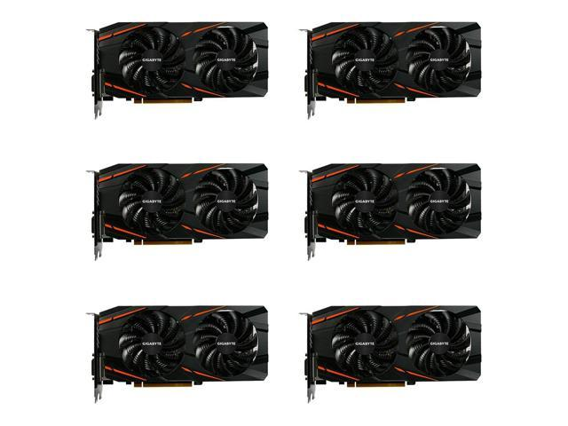 6 Packs of GIGABYTE Radeon RX 470 DirectX 12 GV-RX470WF2-4GD-MI Video Cards
