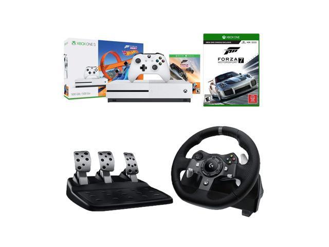 4227e382c04 Microsoft Xbox One S Forza Horizon 3 Hot Wheels and Motorsport 7 500GB  Console and Logitech