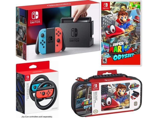 Nintendo Switch Bundle 32gb Console Red And Blue Joy Con