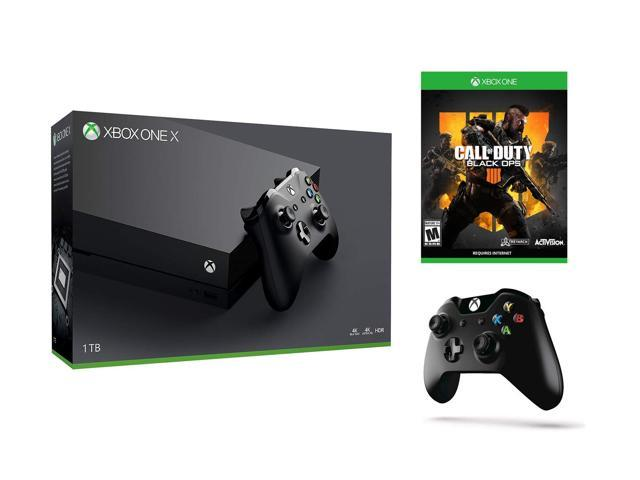 Xbox One X 4K HDR Enhanced COD BO 4 Multi-Play Bundle: Call of Duty Black  Ops 4 and Xbox ONE X 1 TB Console - Black with Extra Black Wireless