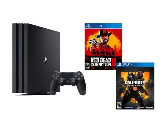 PlayStation 4 PRO Red Dead COD Bundle: RED Dead Redemption 2, Call Duty  Black Ops 4, PlayStation 4 PRO 4K HDR 1TB Console - Newegg com