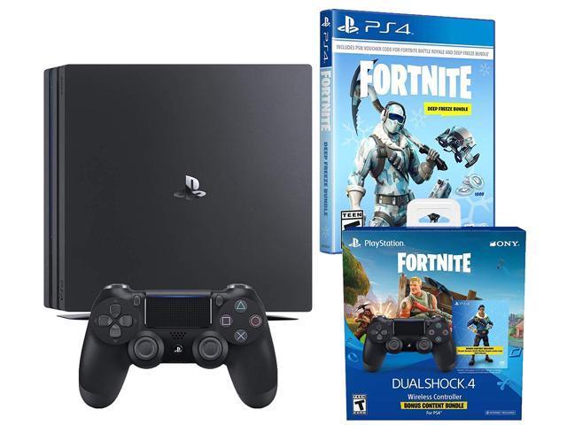 bdc24e27f2e Playstation 4 Pro Fortnite Frostbite and Royale Bomber Cosmetic Bundle:  1500 V-Bucks,