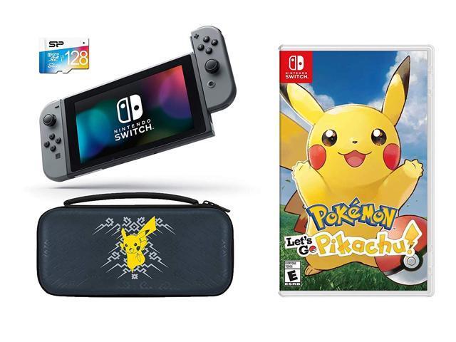Nintendo Switch Pokemon Let S Go Pikachu Starter Bundle Let S Go