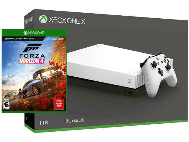 Xbox One X 1TB Limited White Edition True 4K HDR Console Forza Horizon 4  Bundle - Newegg com