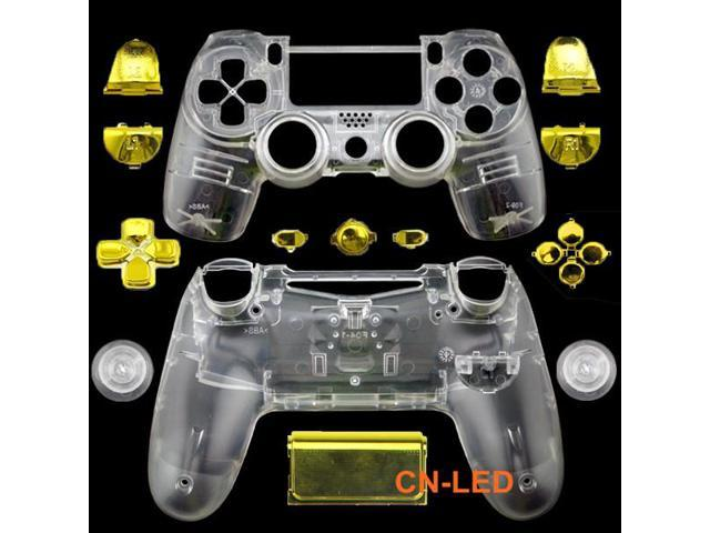 WPS Transparent Clear Controller Full Housing Shell + Chrome Gold buttons  for PS4 Playstation 4 Dualshock 4 ( GEN 1 Controllers ONLY) - Newegg com