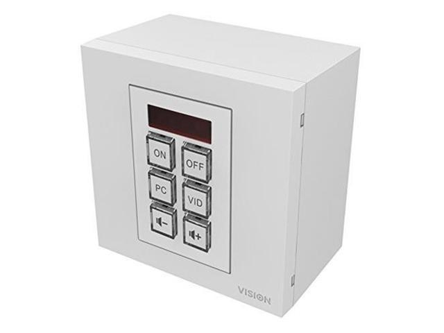 VISION CONTROL PROJECTOR CONTROLLER - Learns IR remote control codes from  original device remote - one code per button  Or for advanced applications