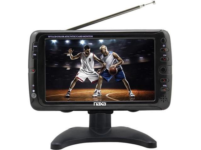 "BRAND NEW NAXA NT-90 9/"" Portable TV /& Digital Multimedia Player"