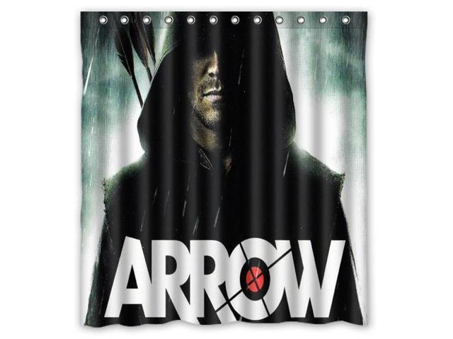 Home Decoration Bathroom Shower Curtain Superhero Arrow Waterproof Fabric 60W