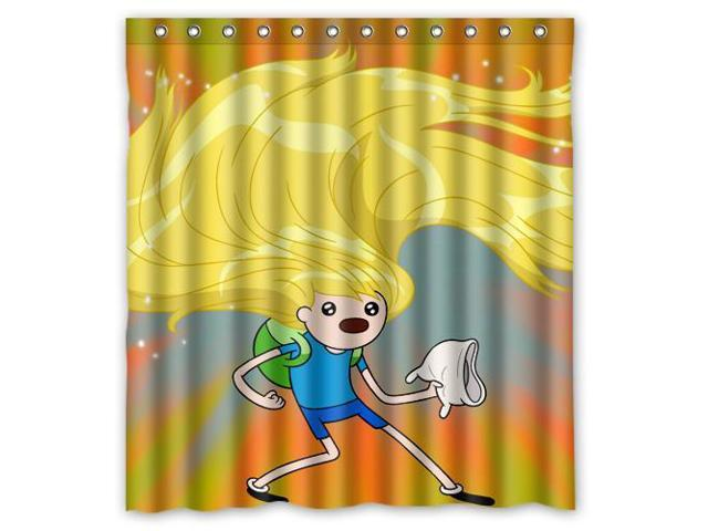 Home Decoration Bathroom Shower Curtain Adventure Time Waterproof Fabric 60W