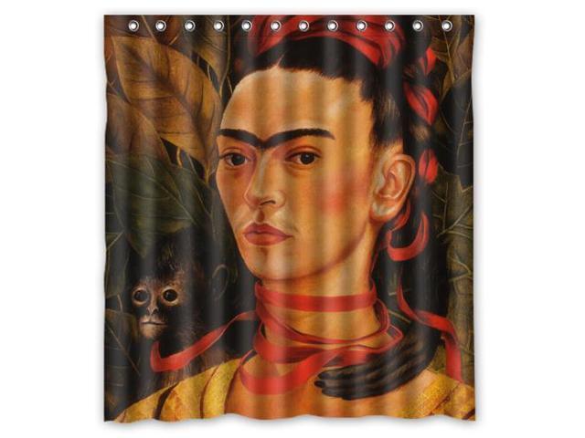 2016 Waterproof Bath Curtain Frida Kahlo Painting Home Decor Bathroom Shower PEVA Fabric