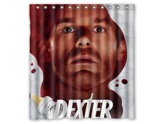 Waterproof Shower Curtain Dexter High Quality Bathroom With Hooks 60W