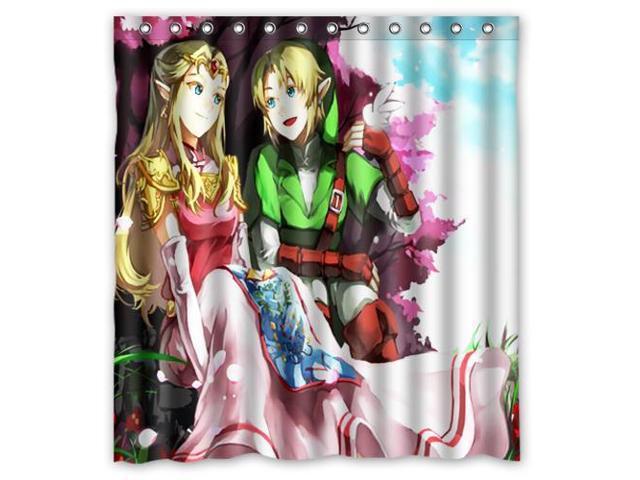 Custom The Legend Of Zelda Waterproof Shower Curtain High Quality Bathroom With Hooks 60