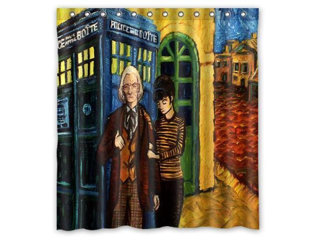 Custom Doctor Who Waterproof Shower Curtain High Quality Bathroom With Hooks 66W