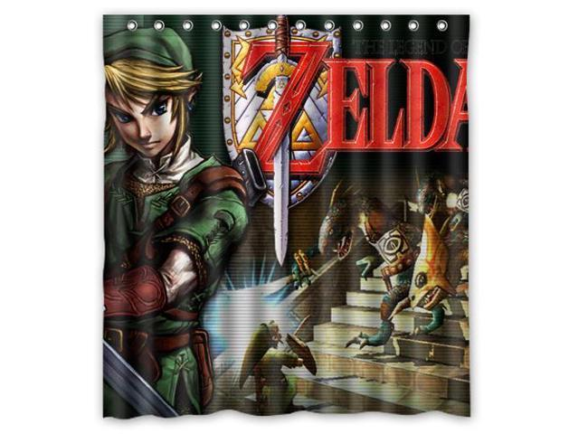 Home Decoration Bathroom Shower Curtain The Legend Of Zelda Waterproof Fabric 60