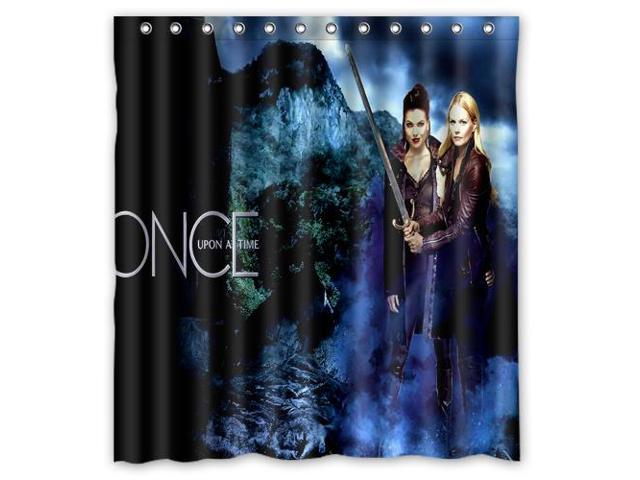 Home Decoration Bathroom Shower Curtain Once Upon A Time Waterproof Fabric Shower Curtain 60 W 72 H Newegg Com