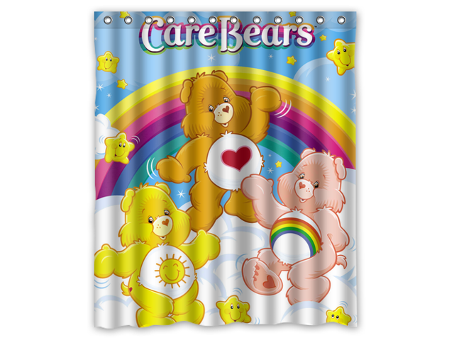 Custom The Care Bears Waterproof Shower Curtain High Quality Bathroom With Hooks 60