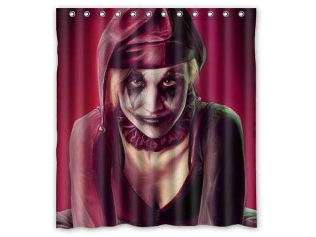 Eco Friendly Waterproof Shower Curtain Harley Quinn Bathroom Polyester Fabric Size66