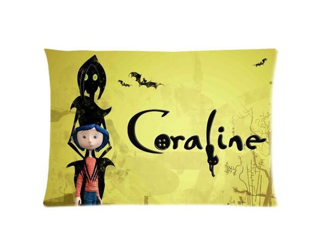 Coraline Movie- Enter The World Of Henry Selick's Coraline Two Sides  Printed Size:20X30 Inch(50% cotton, 50% polyester)Soft Cotton Pillow Covers