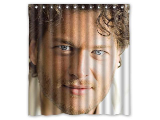 Eco Friendly Waterproof Shower Curtain Blake Shelton Romantic Bathroom Polyester Fabric 66