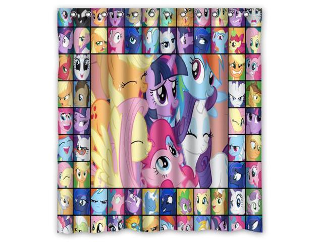 Bathroom Shower Curtain Waterproof Eva My Little Pony Home Decor