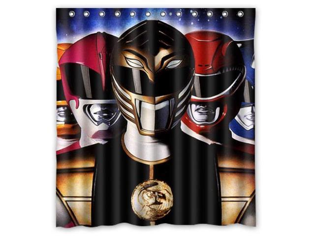 Home Decoration Bathroom Shower Curtain Power Rangers Waterproof Fabric 66W