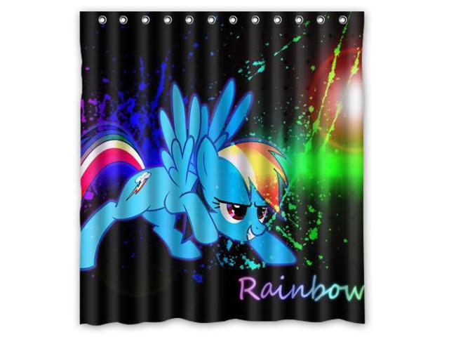 My Little Pony Waterproof Shower Curtain High Quality Bathroom With Hooks 66W