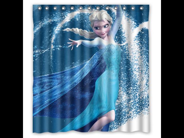 Bathroom Shower Curtain Waterproof Eva Frozen Home Decor Bath Curtain Fabric Shower Curtain 66 W 72 H Newegg Com