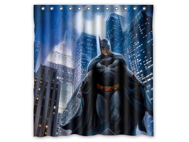Fashion Design Batman Bathroom Waterproof Polyester Fabric Shower Curtain With Hooks 60W