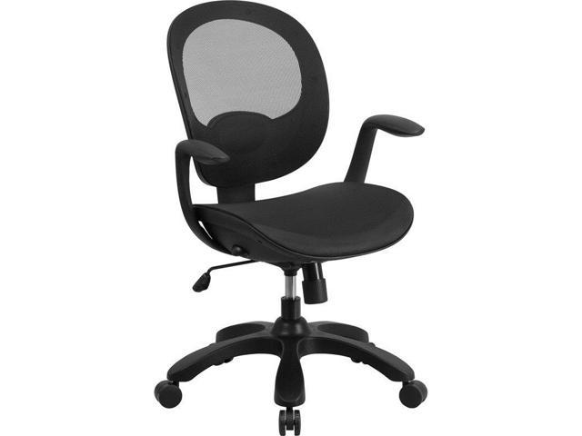 Flash Furniture Hercules Series 500 Lb Capacity Tall Black Leather Executive Swivel Office