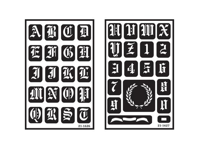 Overnover reusable stencils 5x8 2pkg old english alphabet overnover reusable stencils 5x8 2pkg old english alphabet 130467 newegg altavistaventures Images