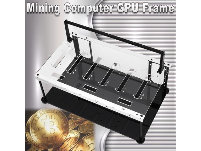 Crypto Coin Open Air Mining Miner Frame Rig Case Set for 6 GPU ETH BTC  Ethereum - Newegg com