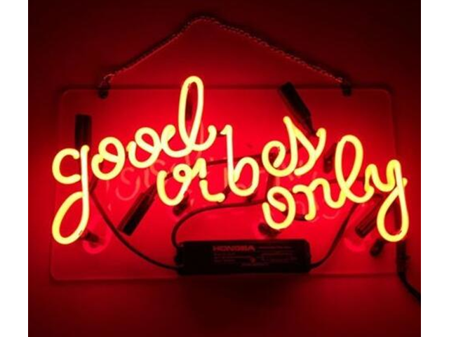 neon signs good vibes only beer bar pub recreation room lights windows wall signs or for