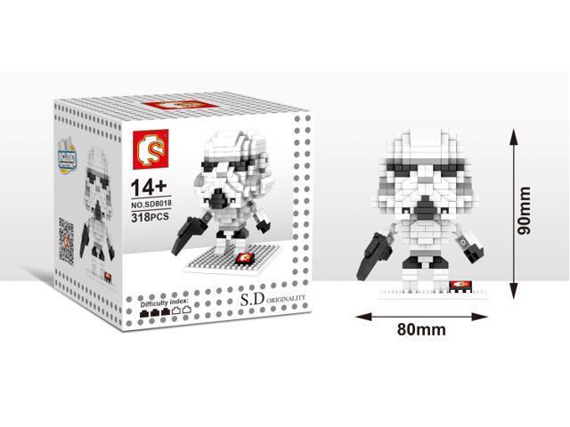 Sd 8018 Star Wars 318pcs Diamond Building Blocks 3d Diy Toy Figure