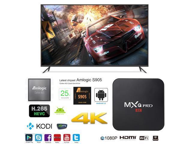 MXQ Pro OTT IPTV Internet TV Box 4K Ultra HD Android 7 1 Quad Core 2 0GHz  RAM:1GB/ROM:8GB Network Media Player - Newegg com
