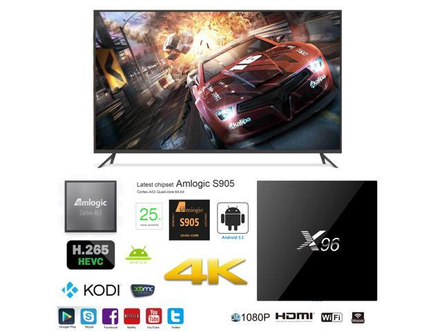 X96 OTT IPTV Internet TV Box 4K Ultra HD Android 6 0 Quad Core 2 0GHz  RAM:2GB/ROM:16GB Network Streamer Media Player - Newegg com