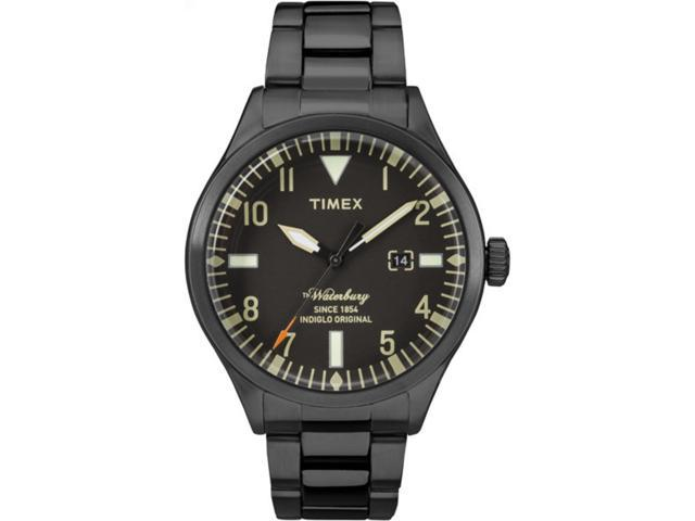 9b03d7e67 Timex Men's Waterbury Traditional 40mm Stainless Steel |Black| Watch  TW2R25200