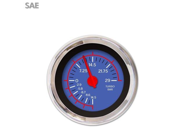 Aurora Instruments Turbo Gauge - SAE VX Blue , Red Modern Needles, Chrome  Trim Rings ~ Style Kit - Newegg com