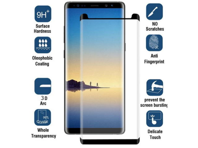 Case Friendly 3D Full Cover Tempered Glass Screen Protector For Samsung S9  Plus, Black - Newegg com