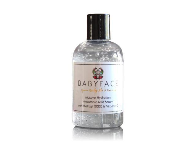 Babyface Massive Hydration Hyaluronic Acid Serum with Vitamin C & Matrixyl  3000, 4 2 oz  - Newegg com