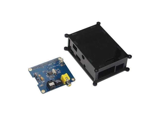 Raspberry Pi B+ IP Digital Audio Card HIFI DiGi + Black Acrylic Case for  Raspberry Pi 3 - Newegg com