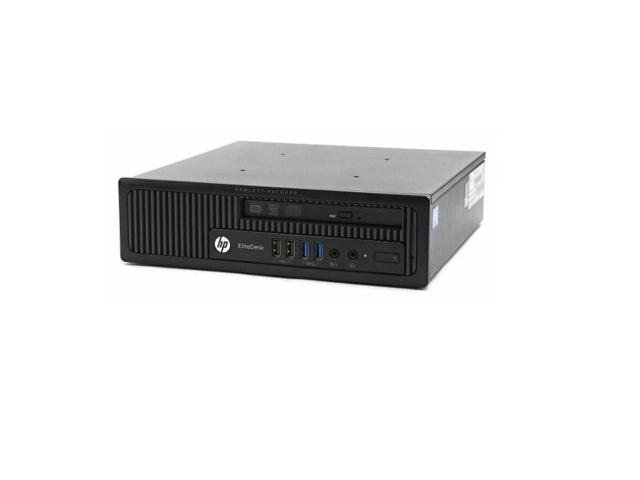 HP EliteDesk 800 G1 Ultra Slim Desktop (USDT) Computer - Intel Core i5  3 0Hz (4590S) Quad Core - 8GB RAM - 128GB SSD - DVD - Windows 10 Pro 64-Bit