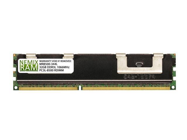 Samsung 64G 2x32GB 4RX4 PC3-8500R DDR3-1066 MHz 240pin ECC Registered Server RAM