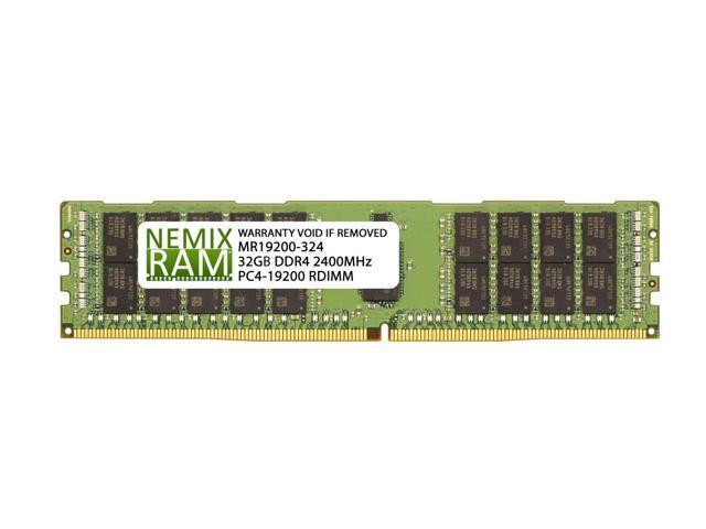 Micron 32GB 2Rx4 PC4-19200 PC4-2400 DDR4 2400MHz ECC Registered Server RDIMM RAM