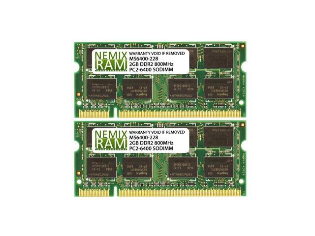 4gb 2x2gb Ddr2 800 Pc2 6400 Sodimm Laptop Memory Ram Newegg Com