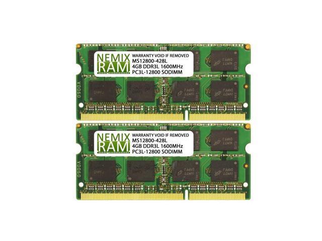 TOP BRANDS RAM 4GB 2x2GB PC3L-12800S DDR3 1600MHz 204PIN SODIMM LAPTOP MEMORY