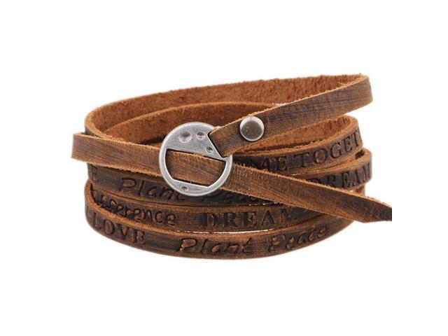 Mdiger Brand Leather Bracelet Men Women Vintage Hand Strap Bracelets Bangles Jewelry For Accessories