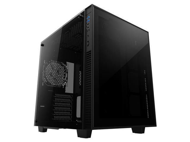 anidees AI-Crystal-Cube-Lite Cube ATX Tempered Glass Gaming Case, Compatible with EATX/ATX M/B ...
