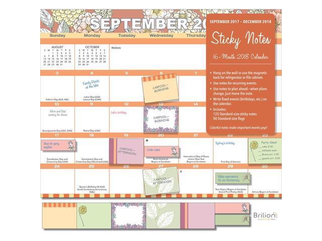 sticky notes wall calendar organizer by brilion newegg com